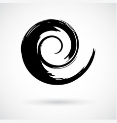 Whimsical spiral symbol hand painted with vector
