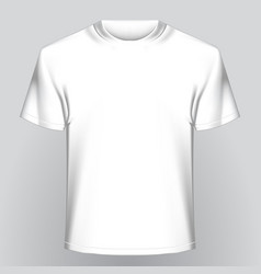 white empty t-shirt vector image