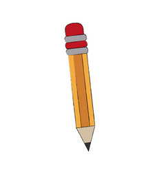 Wooden pencil isolated vector