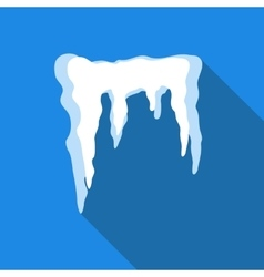 Icicles icon flat style vector