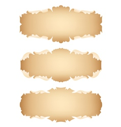 Ancient scrolls set vector image