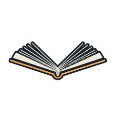 Open book sketch vector