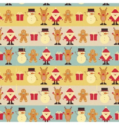 Christmas seamless vintage background vector