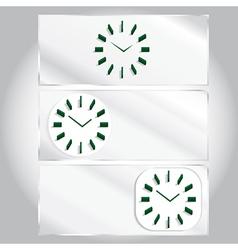 set three types of clocks vector image