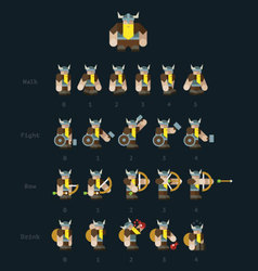 Viking steps for animation vector