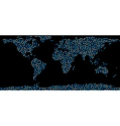 World map composed of dots vector