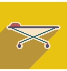 Icon of medical stretcher in flat style vector