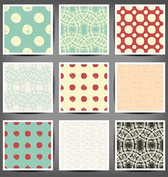 Set of seamless patterns in retro style vector