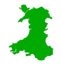 Map of wales vector