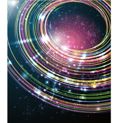 Abstract perspective circle background vector