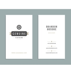 Business card design and retro style template logo vector