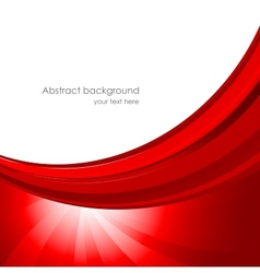 Abstract background in red color vector image vector image