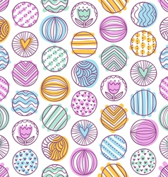 Abstract colorful circles doodle pattern vector image vector image