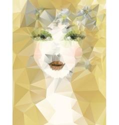 Artistic portrait of girl vector