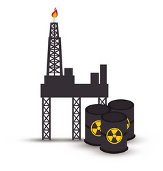 Atomic industry isolated icon vector