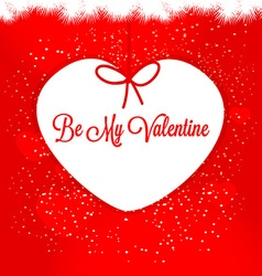 Be My Valentine Happy Valentines day vector image vector image