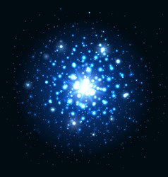 blue glitter sparkes background vector image vector image