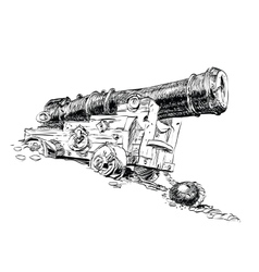 Cannon pirate graphics vector image