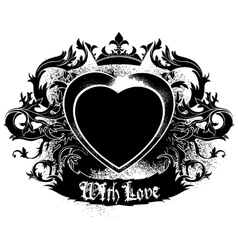 decorative symbol of Love vector image