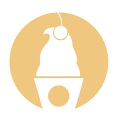 Delicious ice cream basket vector