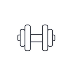 dumbbell sport gym thin line icon linear vector image