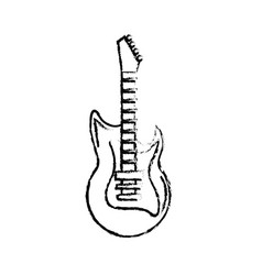 Figure electric guitar musical instrument to play vector