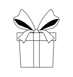gift box wrapped ribbon decoration celebration vector image vector image