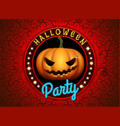 Happy halloween pumpkin party vector