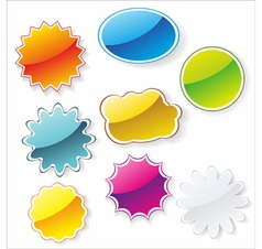 Multi-colored realistic stickers vector image