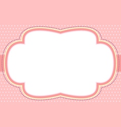 Ornate pink bubble frame vector