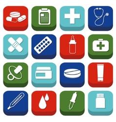 Pharmacy icons vector