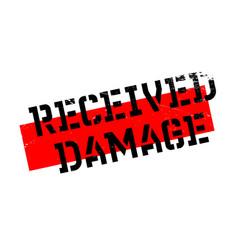 received damage rubber stamp vector image