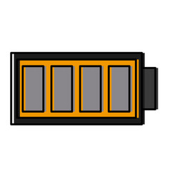 Rechargeable battery symbol vector