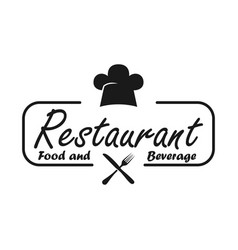 Restaurant food and beverage white background vector
