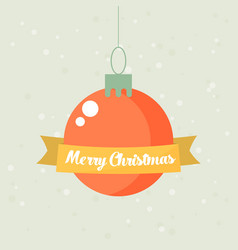 retro decorative christmas ball christmas card vector image