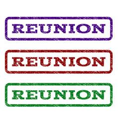 Reunion watermark stamp vector
