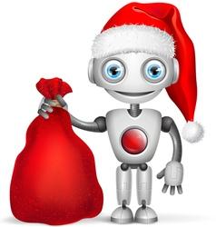 Robot Santa Claus vector image