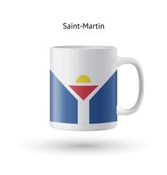 Saint-martin flag souvenir mug on white background vector