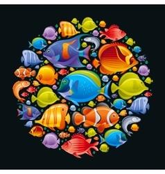 Sea travel icon set nderwater diving animals - vector