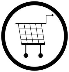 Shopping basket icon monochrome vector image vector image
