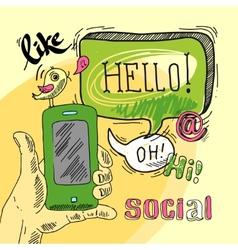 Speech bubble social vector