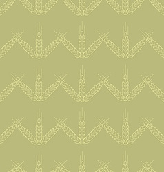 spica wheat seamless pattern vector image vector image