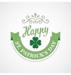 Typography St Patricks Day vector image