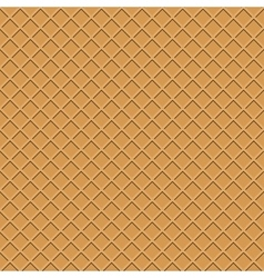 Waffle seamless background vector image vector image