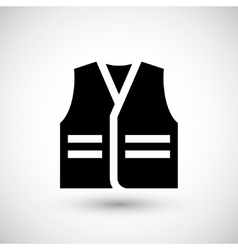 Working vest icon vector image
