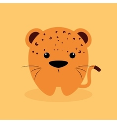 Cute cartoon tiger vector