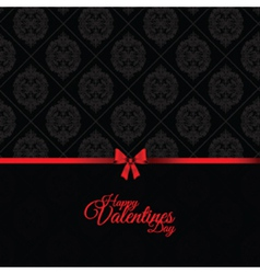 Damask valentines day background 1401 vector