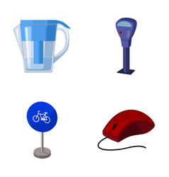water filter parking machine and other web icon vector image