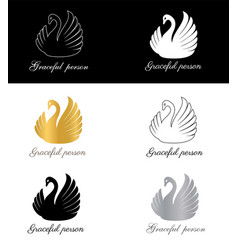 Graceful person sign symbol for fashion brand vector