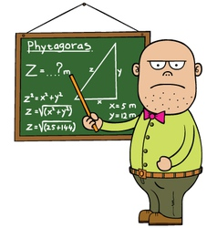 Maths teacher vector